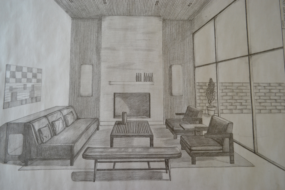 One Point Perspective Living Room Drawing further Portfolio together  with Room Layout Grid also Sketches And. 2 Point Perspective Living Room   Trends Home Design Images